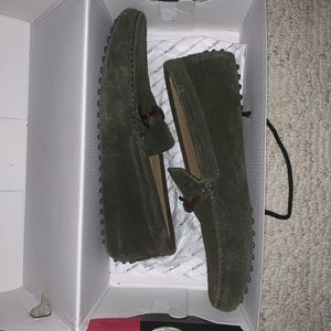 Aldo suede loafers for men size 10 forest green